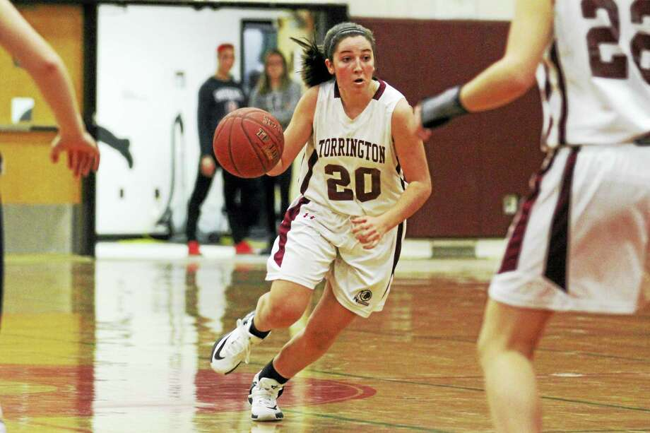Photo by Marianne KillackeyGuard Shannon Reardon led Torrington to its big first-quarter lead over Kennedy Monday night at Torrington High School. Photo: Digital First Media / 2015