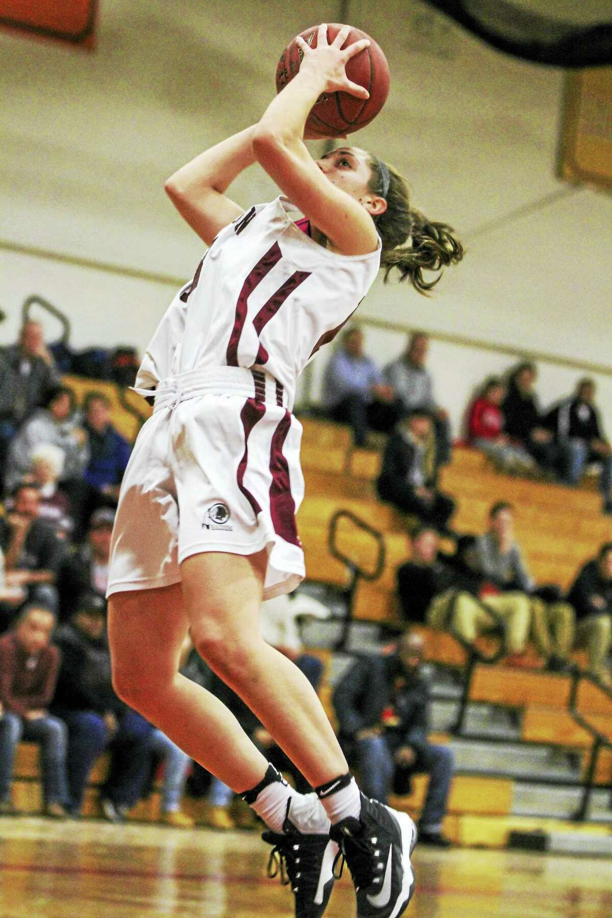 Photo by Marianne Killackey Torrington's Brie Pergola put in 29 points in the Red Raiders' win over Kennedy Monday night at Torrington High School.