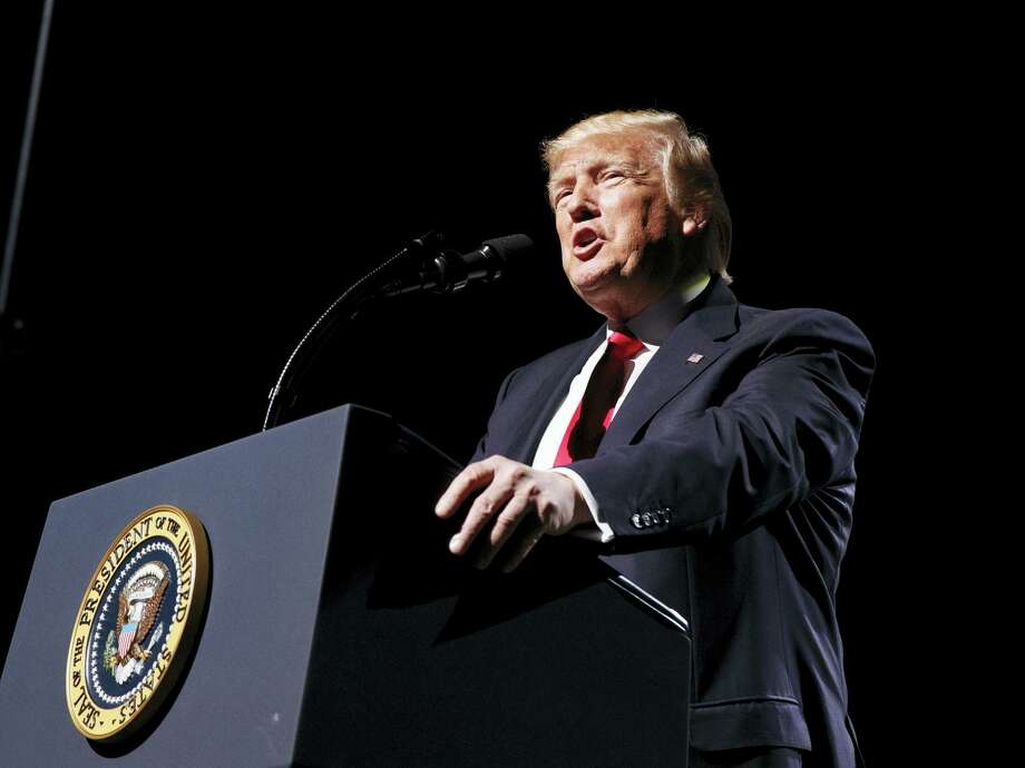 In this April 28, 2017, file photo, President Donald Trump speaks in Atlanta. Photo: AP Photo/Evan Vucci, File   / Copyright 2017 The Associated Press. All rights reserved.