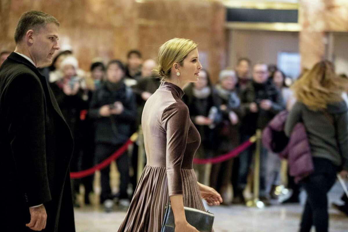 Ivanka Trump, daughter of President-elect Donald Trump departs Trump Tower in New York on Jan. 6, 2017.