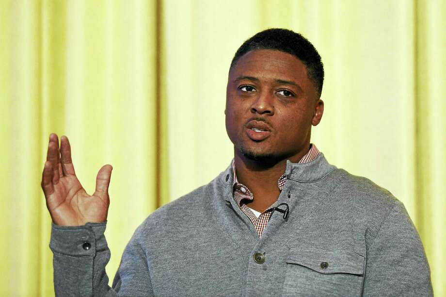 Former Florida State standout Warrick Dunn, seen here in 2014, is this year's Walter Camp Football Foundation Man of the Year. Photo: The Associated Press File Photo  / AP