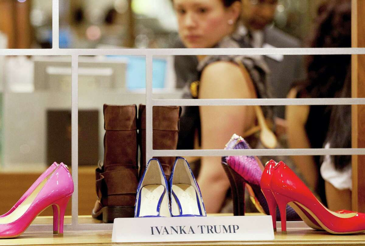 Shoes from the Ivanka Trump collection are displayed at a Lord & Taylor department store in New York.