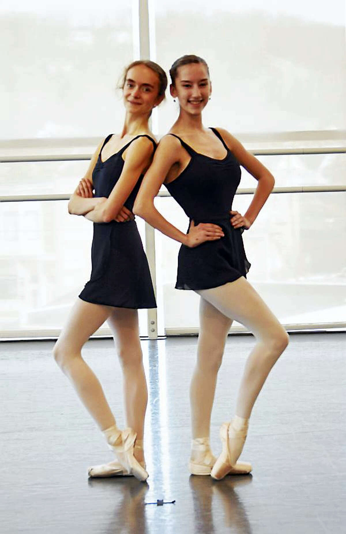 Alma Evertz and Makenna Wollmann are Nutmeg's 10-year pre-professional program graduates.