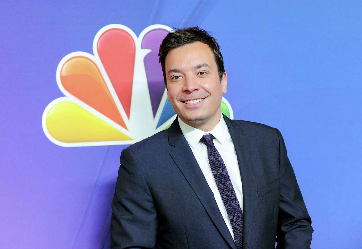 In this May 12, 2014 photo, The Tonight Show host Jimmy Fallon attends the NBC Network 2014 Upfront presentation at the Javits Center in New York.