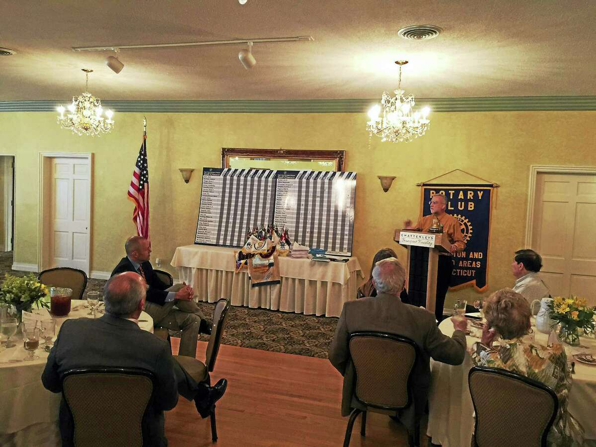 Attorney Kevin Brophy of Connecticut Legal Services detailed his career and was celebrated by the Torrington-Winsted Area Club Tuesday.