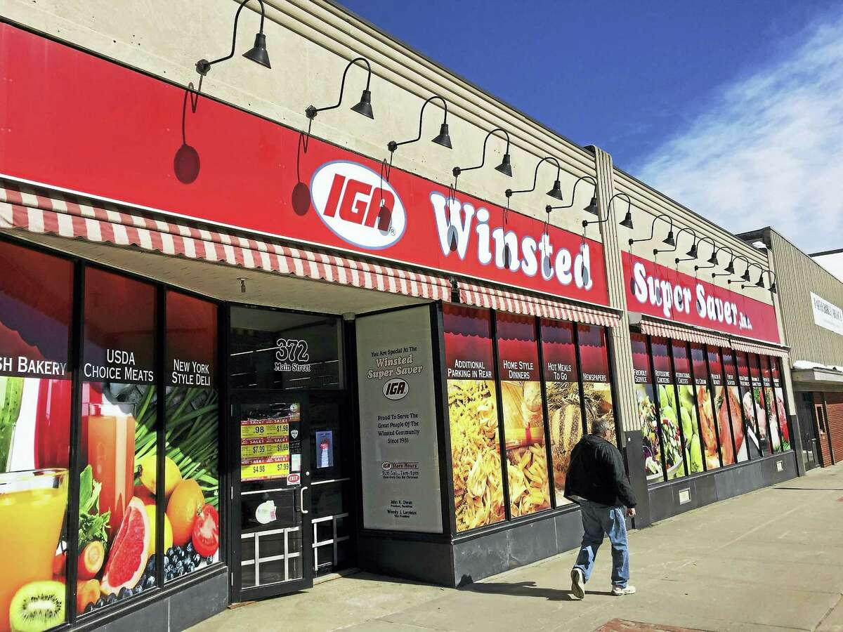 The IGA Winsted Super Saver, as seen Friday.