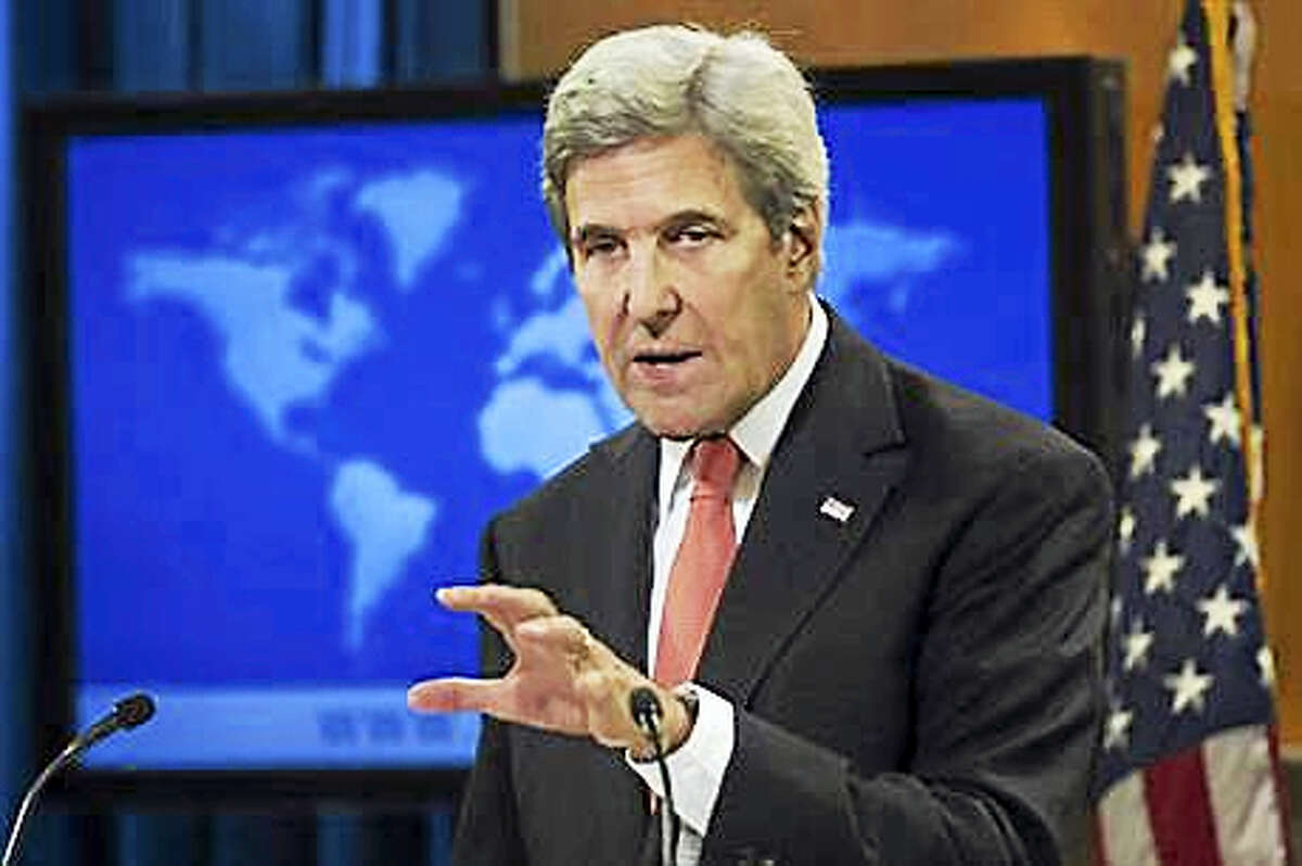 In this Jan. 5, 2017, photo, Secretary of State John Kerry speaks during a news conference at the State Department in Washington. Stung by years of failure to stop Syria's bloodshed, the United States is now but a bystander to the civil war as President Barack Obama leaves office. Kerry still is speaking sporadically with Russian, Turkish and Arab foreign ministers about cease-fire efforts, and there are occasional consultations with the opposition. But less than two weeks before Donald Trump's presidency begins, the outgoing administration is no longer even claiming to play the leading part in the peace mediation that it spearheaded unsuccessfully for years.
