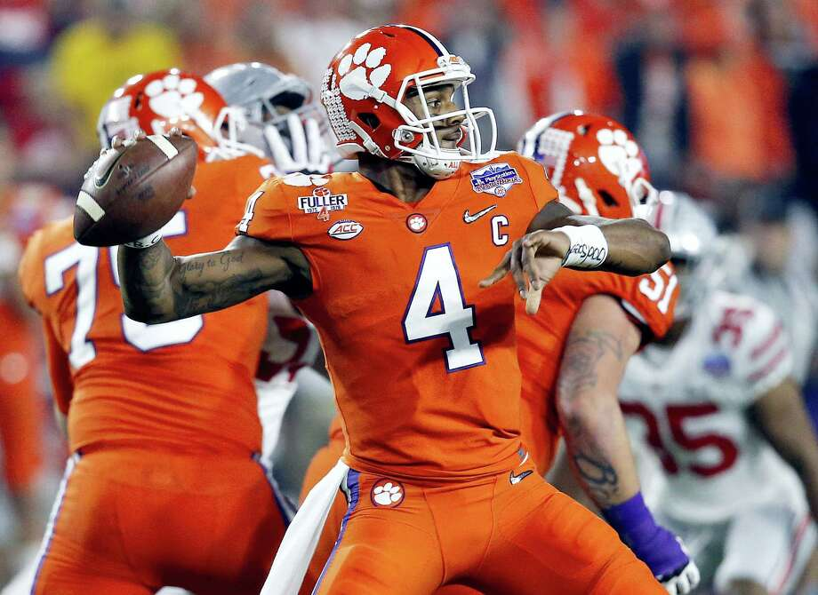 Clemson quarterback Deshaun Watson. Photo: The Associated Press File Photo  / Copyright 2017 The Associated Press. All rights reserved.