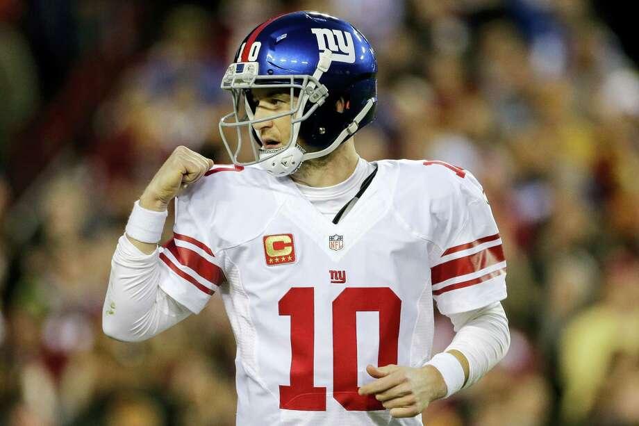 Giants quarterback Eli Manning. Photo: The Associated Press File Photo  / FR170908 AP