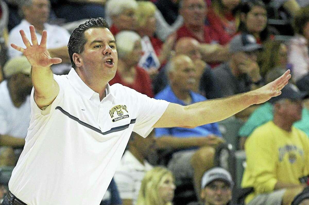 Quinnipiac men's basketball coach Tom Moore.