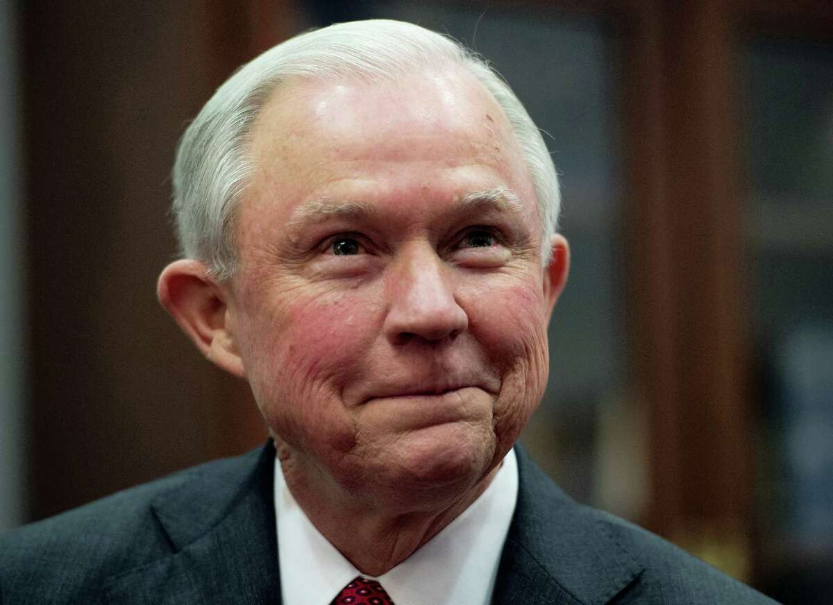 In this Nov. 29, 2016, file photo, Attorney General-designate Sen. Jeff Sessions, R-Ala. is seen on Capitol Hill in Washington.