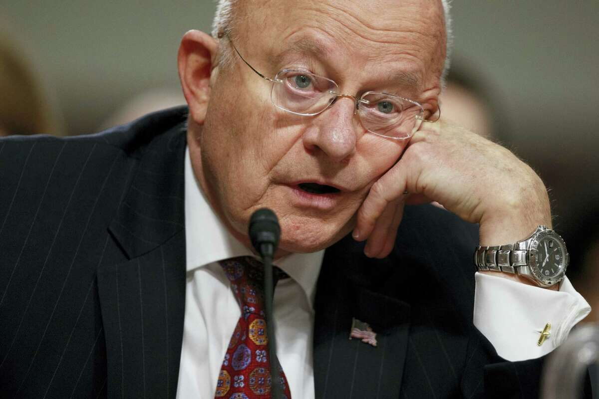 """AP Photo/Evan Vucci Director of National Intelligence James Clapper testifies on Capitol Hill in Washington, Thursday, Jan. 5, 2017, before the Senate Armed Services Committee hearing: """"Foreign Cyber Threats to the United States."""""""