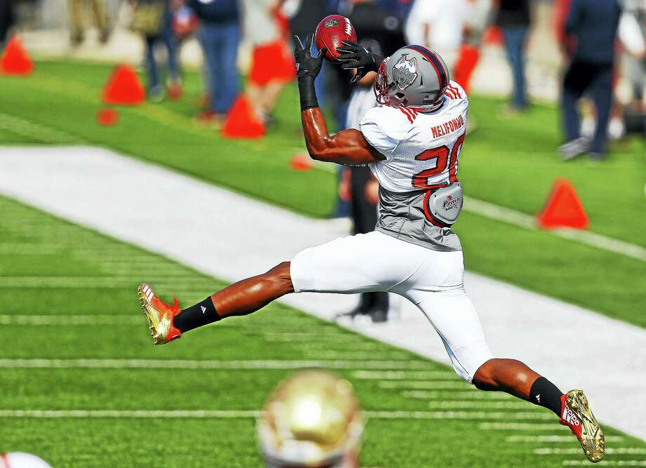 North squad safety Obi Melifonwu of Connecticut (20) made quite an impression at the Senior Bowl in Mobile, Ala. Photo: Brynn Anderson — The Associated Press  / Copyright 2017 The Associated Press. All rights reserved.