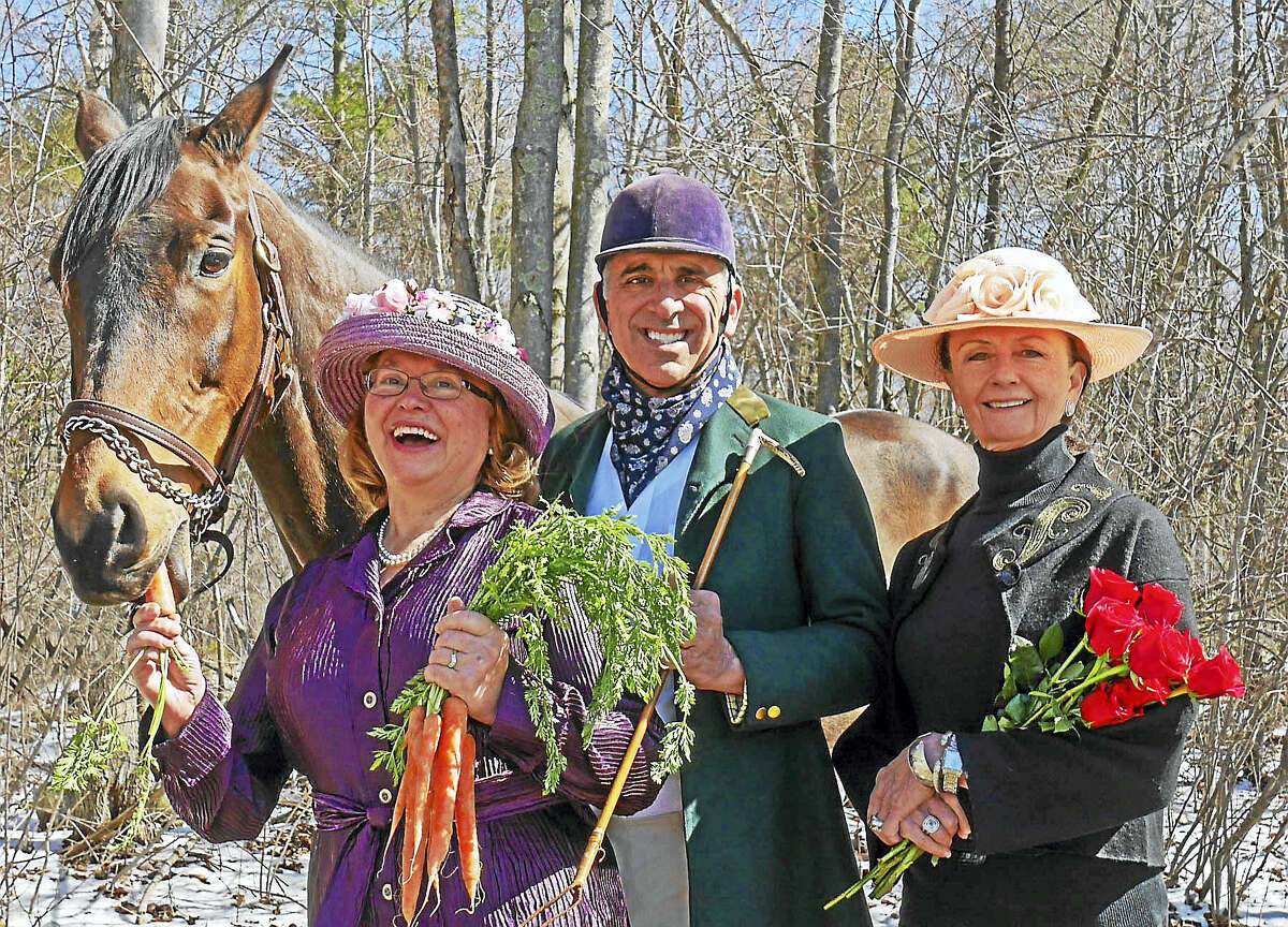 Pictured from left are: Margoux the Horse, Courtesy of Viktoria Sleeper and Terra Cello Farm; Honorary Hosts Mary and Peter Tavino; and Event Chair, Patricia Hearn.