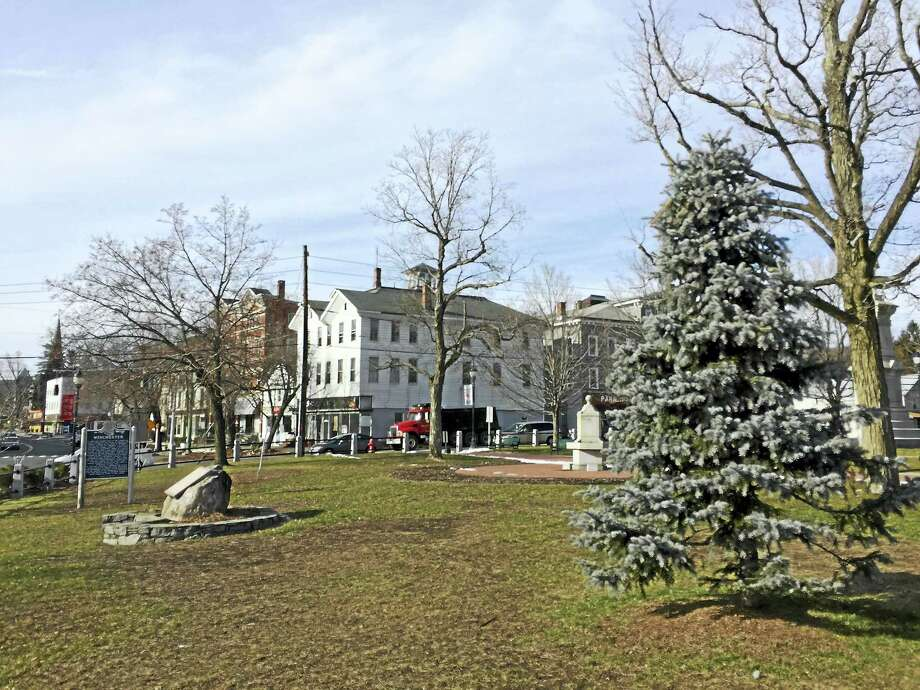 The town's holiday tree at East End Park in Winsted is seen in this file photo. Photo: Digital First Media