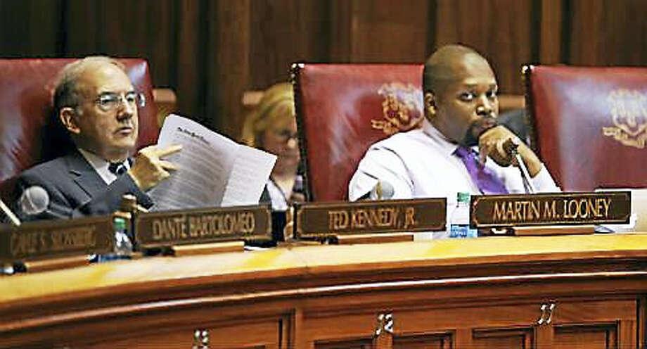 CTNewsJunkie file photo From left: State Sen. President Martin Looney, state Sen. Gary Winfield Photo: Digital First Media