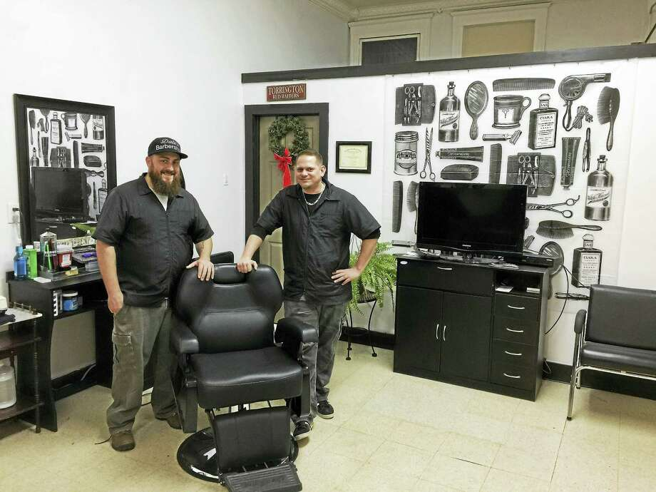Ben Lambert - The Register Citizen  Dale Becker recently opened Dale's Barber Shop, located at 238 Water Street in Torrington, along with his cousin Derek Yanok. Photo: Digital First Media