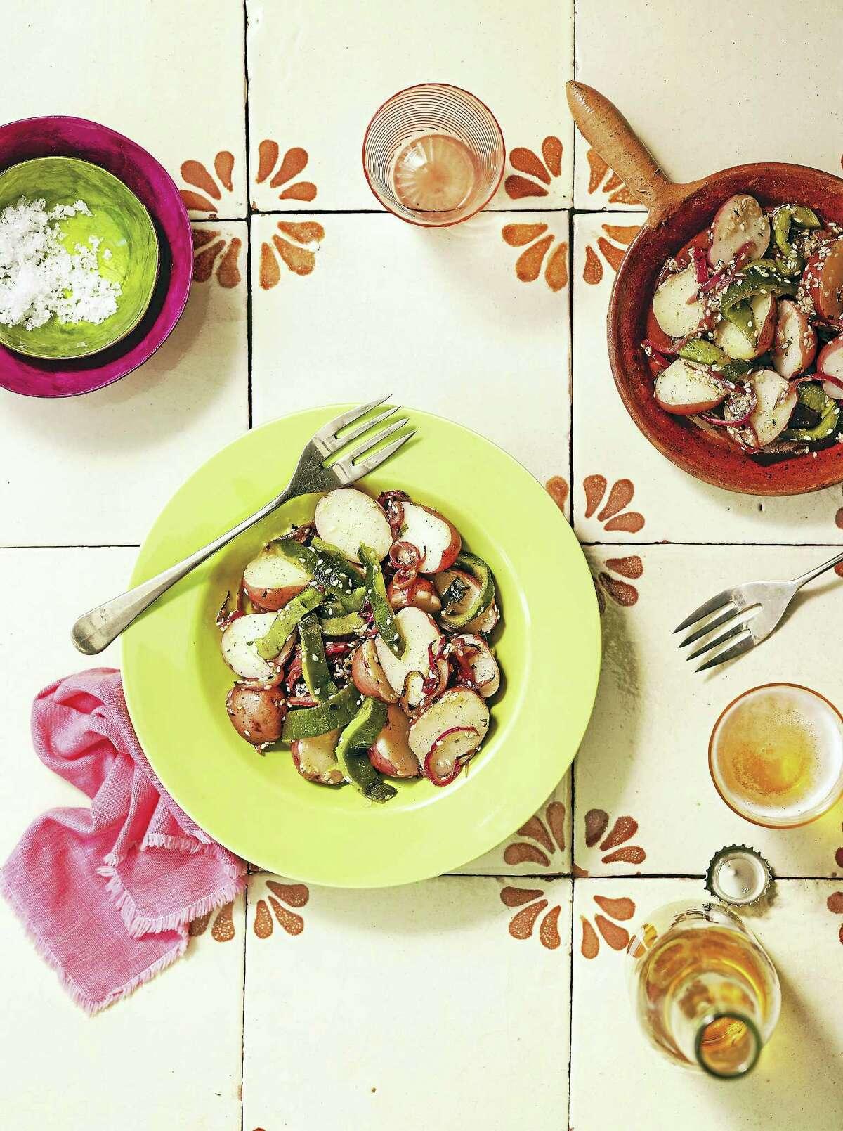 Potato and poblano rajas salad.