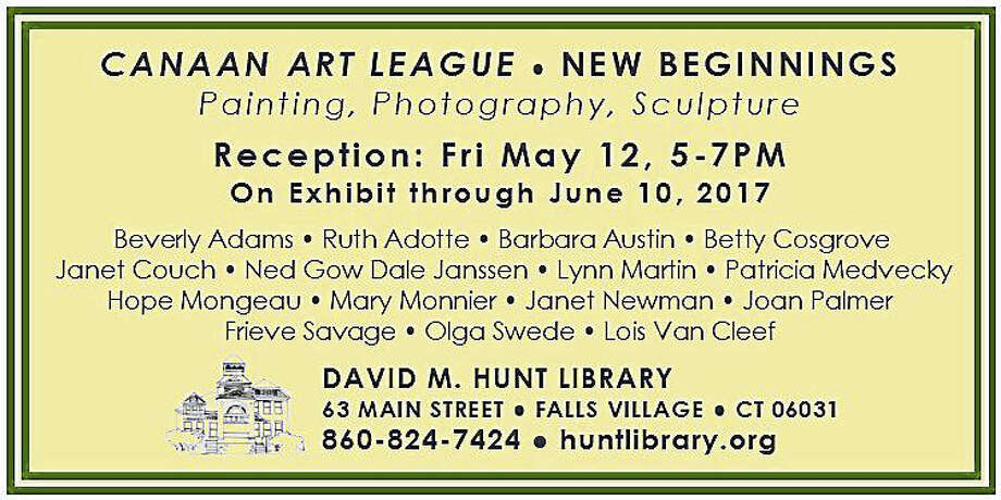 """A  postcard announcing the Canaan Art League's new show, """"New Beginnings,"""" which opens with a reception May 12. Photo: Contributed Photo"""