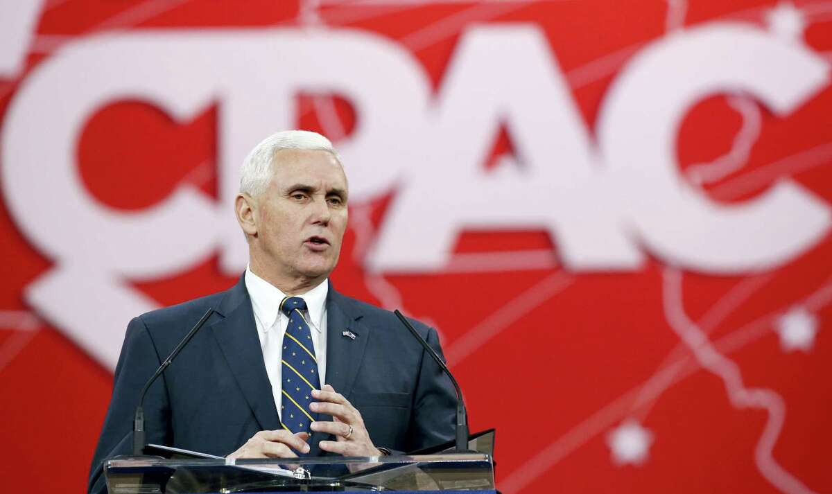 Indiana Gov. Mike Pence speaks at the Conservative Political Action Conference (CPAC) on Feb. 27, 2015 in National Harbor, Md. Pence was since elected Vice President-elect of the U.S.