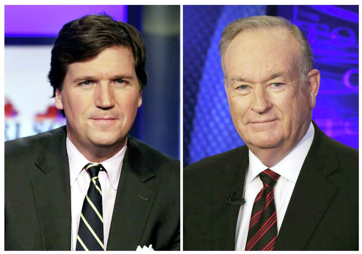 Tucker Carlson, left, and Bill O'Reilly