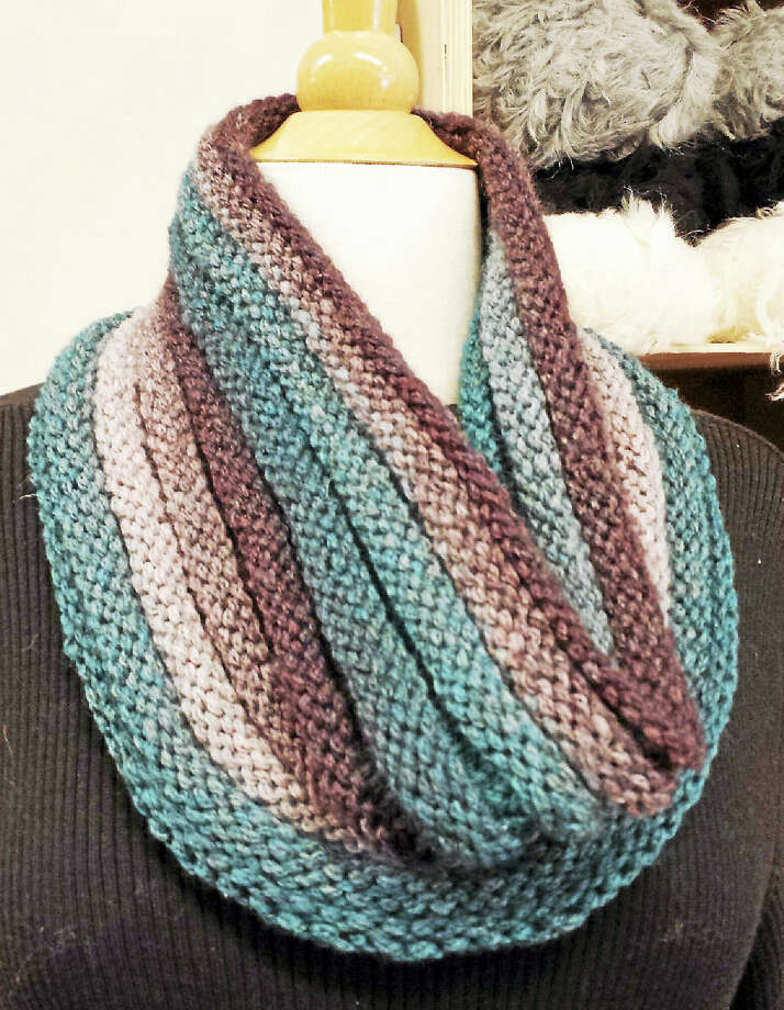 Photo by Ginger BalchA colorful cowl keeps your neck cozy and warm through the winter months; learn to make it at In Sheep's Clothing. Photo: Digital First Media
