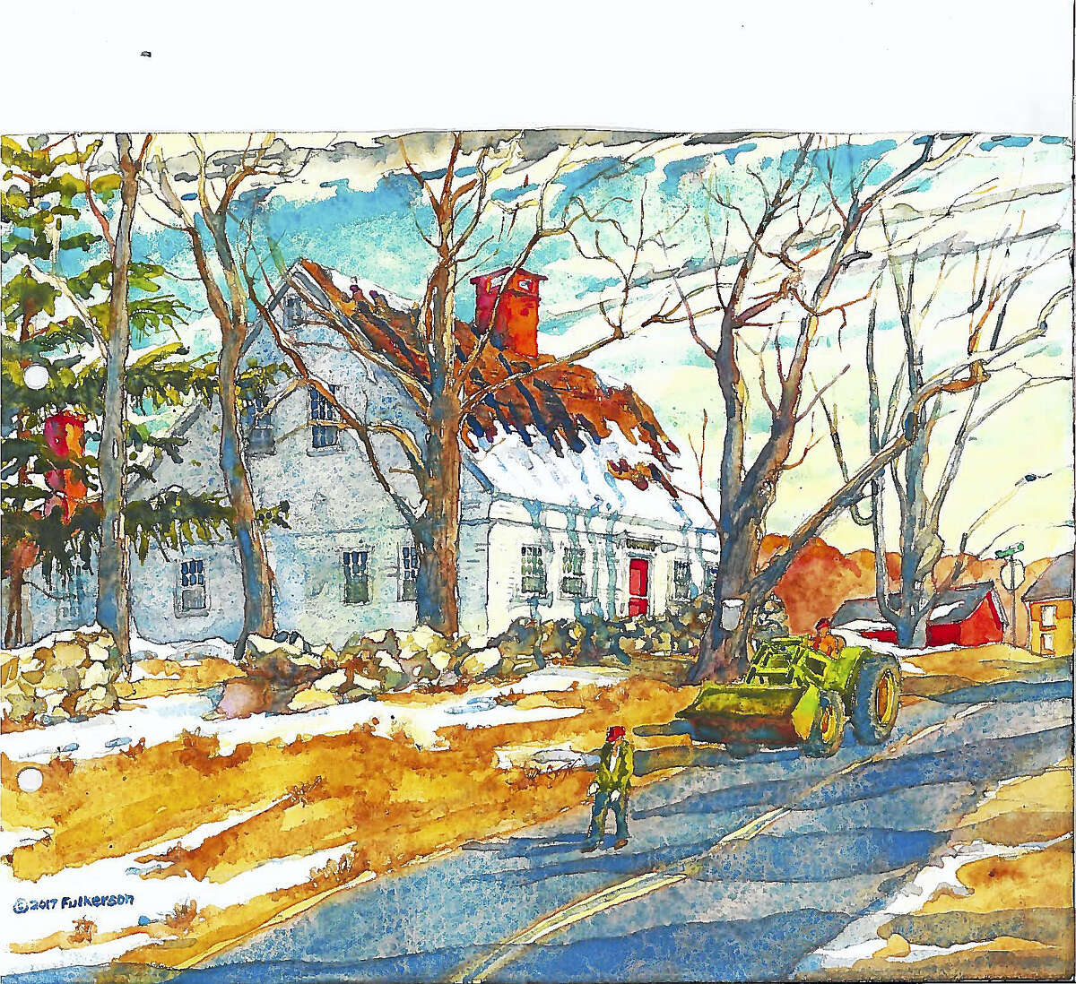 A watercolor by artist Chuck Fulkerson, who will lead a plein air painting class at Flanders Nature Center in Woodbury.
