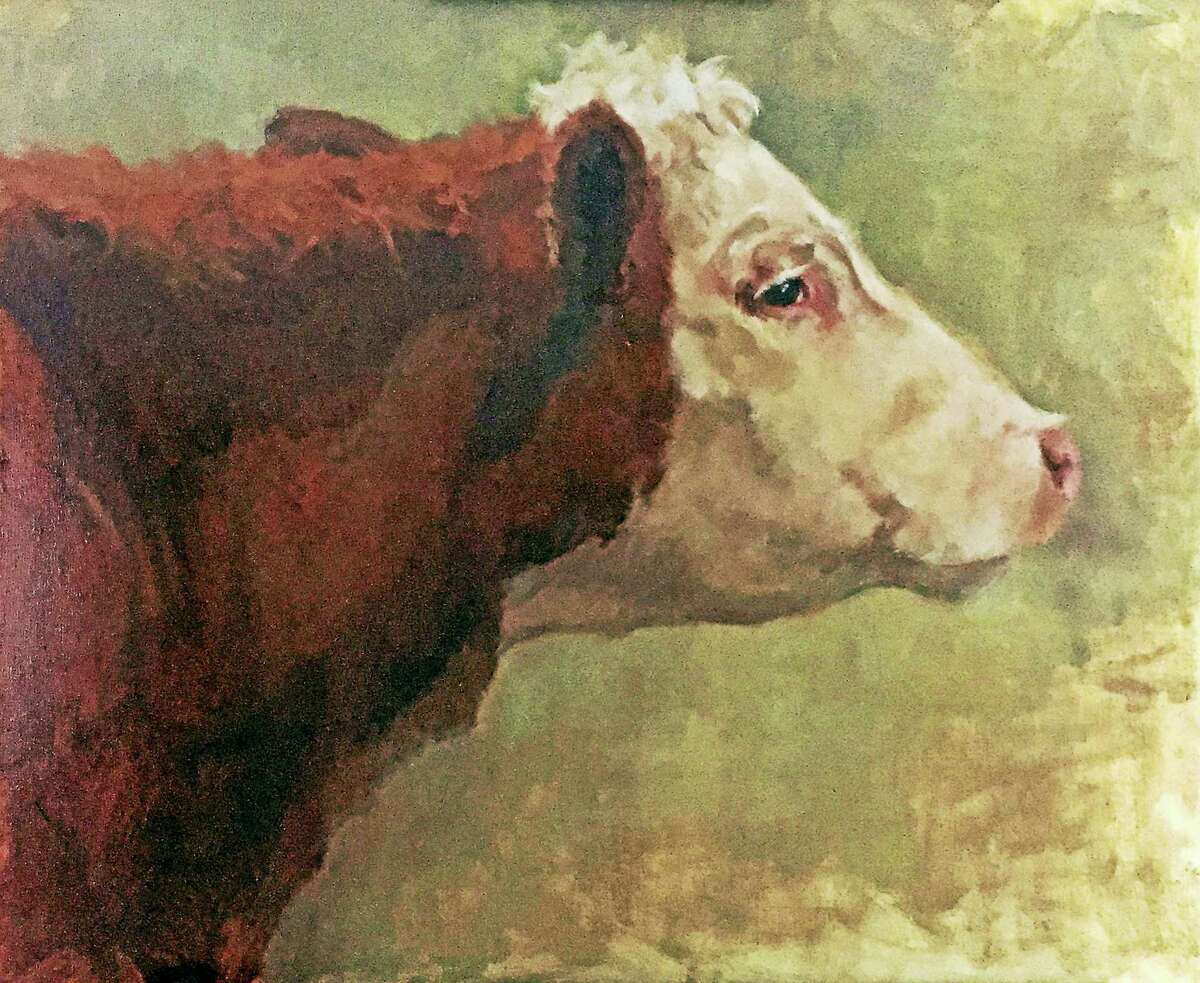 Cow, by Melody Asbury, who will teach a painting class at Flanders Nature Center.