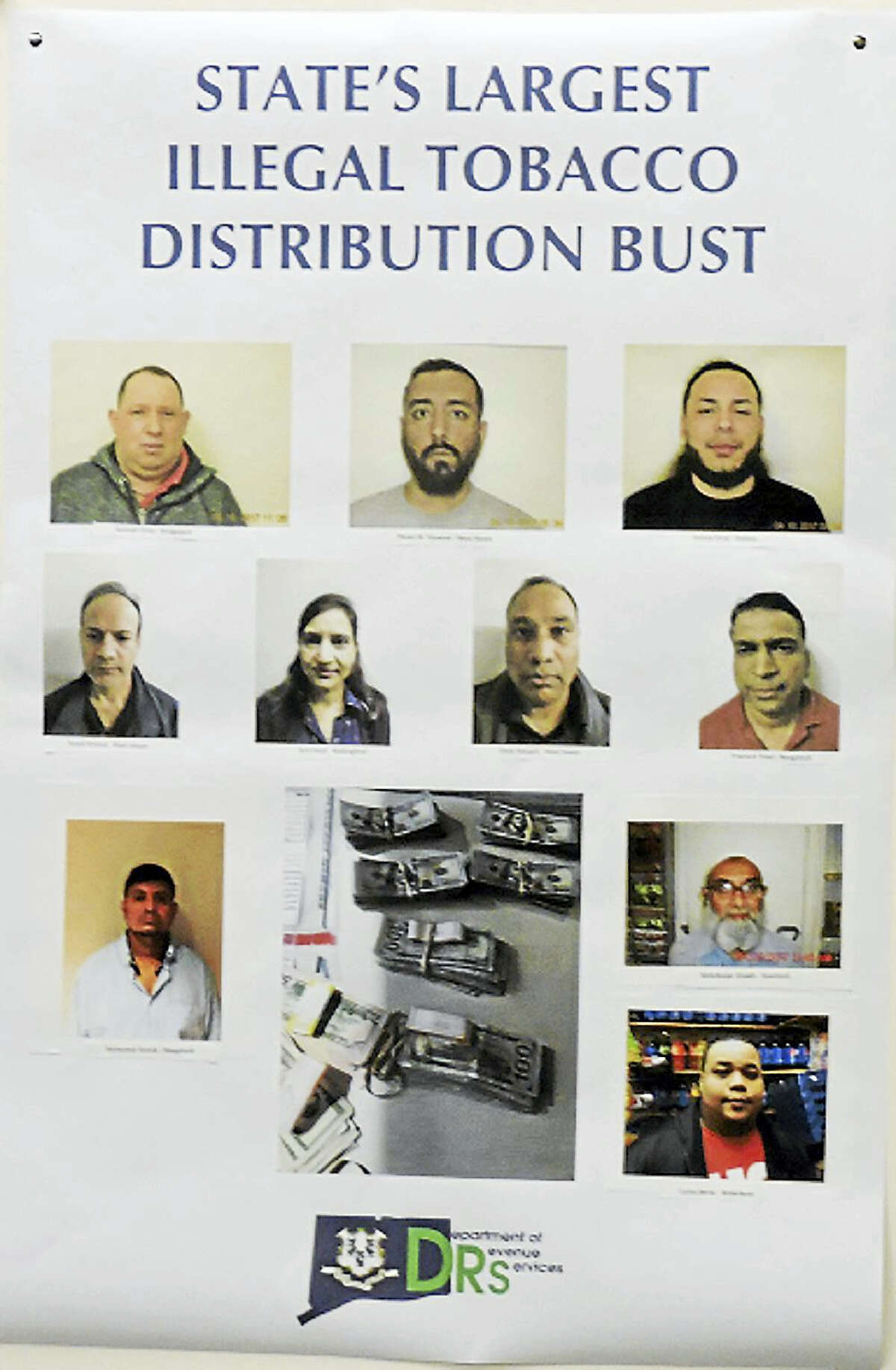 Photos of the 10 people arrested.