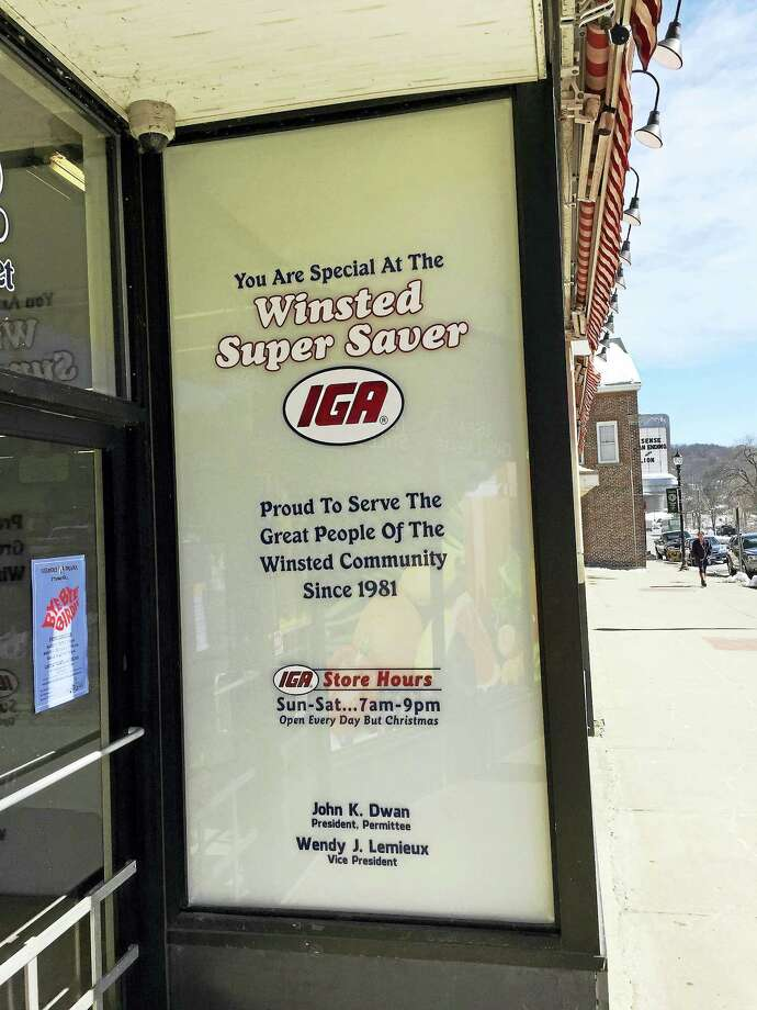 The IGA Winsted Super Saver. Photo: Ben Lambert — The Register Citizen FILE PHOTO