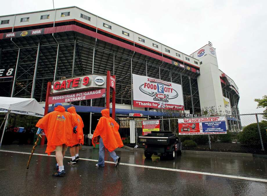 Fans arrive at Bristol Motor Speedway before a NASCAR Monster Energy NASCAR Cup Series auto race on Sunday, April 23, 2017 in Bristol, Tenn. Photo: AP Photo — Wade Payne  / FR23601 AP