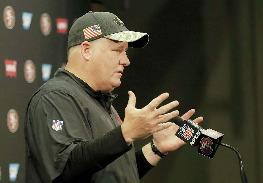San Francisco 49ers coach Chip Kelly speaks at a news conference after the team's NFL football game against the Seattle Seahawks in Santa Clara, Calif. on Jan. 1, 2017. Photo: AP Photo/Marcio Jose Sanchez  / Copyright 2017 The Associated Press. All rights reserved.