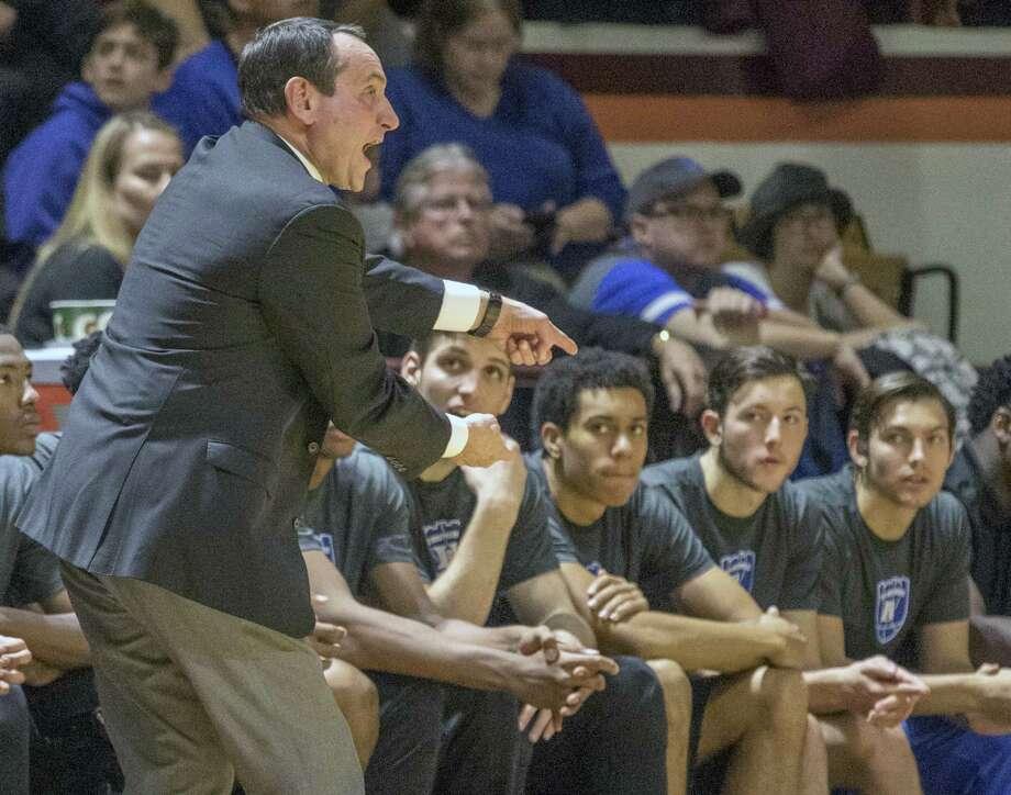 Duke head coach Mike Krzyzewski. Photo: The Associated Press File Photo  / FR59093 AP