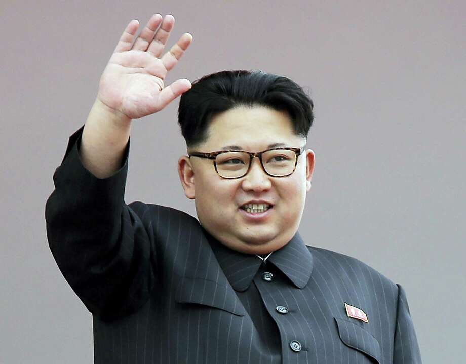North Korean leader Kim Jong Un waves at parade participants at the Kim Il Sung Square in Pyongyang, North Korea. North Korea has conducted a ground test of a new type of high-thrust rocket engine that leader Kim Jong Un is calling a revolutionary breakthrough for the country's space program. Photo: AP Photo — Wong Maye-E  / Copyright 2016 The Associated Press. All rights reserved.