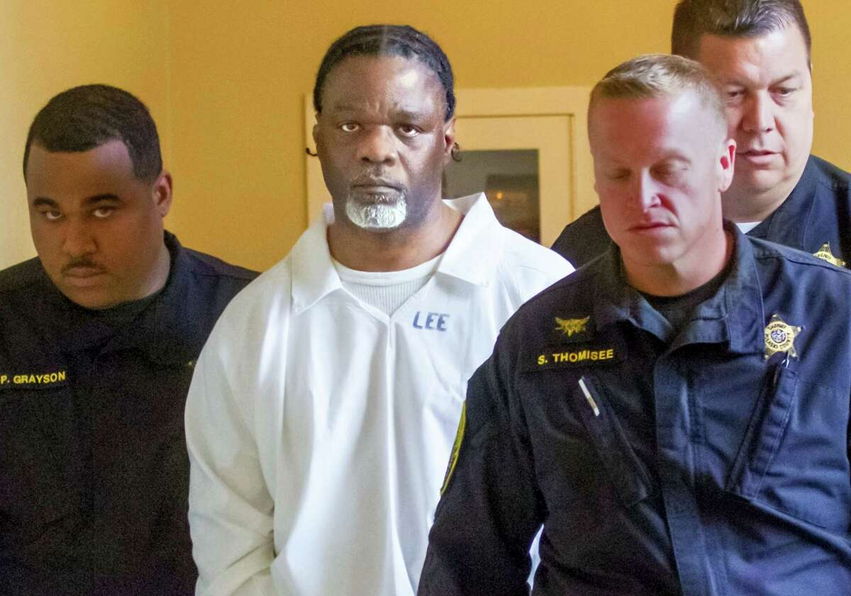 FILE - In this Tuesday, April 18, 2017 file photo, Ledell Lee appears in Pulaski County Circuit Court for a hearing in which lawyers argued to stop his execution which is scheduled for Thursday. Unless a court steps in, Lee and Stacey Johnson are set for execution Thursday night. Lee was sentenced to death after being convicted of killing Debra Reese with a tire iron in February 1993 in Jacksonville.