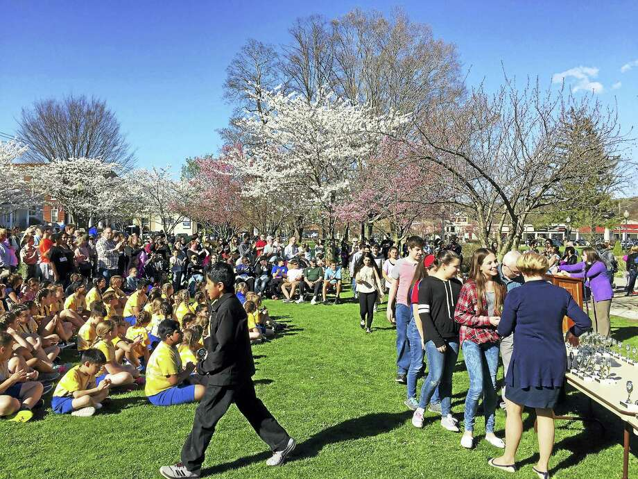 Young people from Torrington were celebrated Tuesday during a ceremony marking National Youth Service Day. Photo: Ben Lambert — The Register Citizen