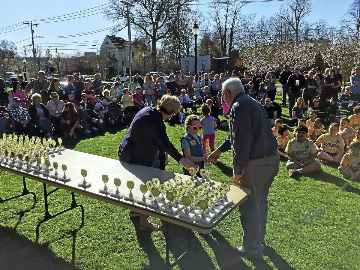 Ben Lambert - The Register Citizen Young people from Torrington were celebrated Tuesday, as a ceremony marking National Youth Service Day was held.