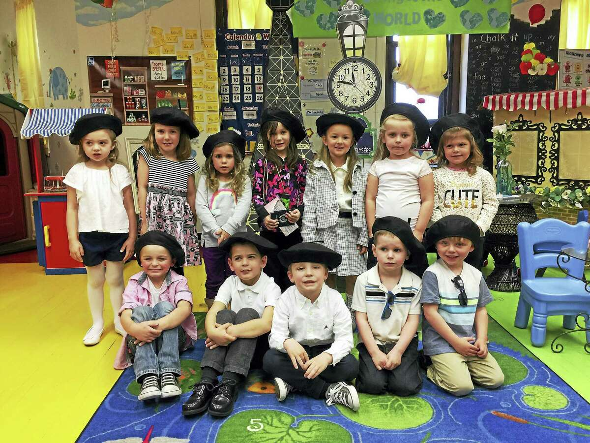 """Students at Miss Stacey's Early Childhood Education Center in Torrington took a """"trip"""" to Paris Thursday morning."""