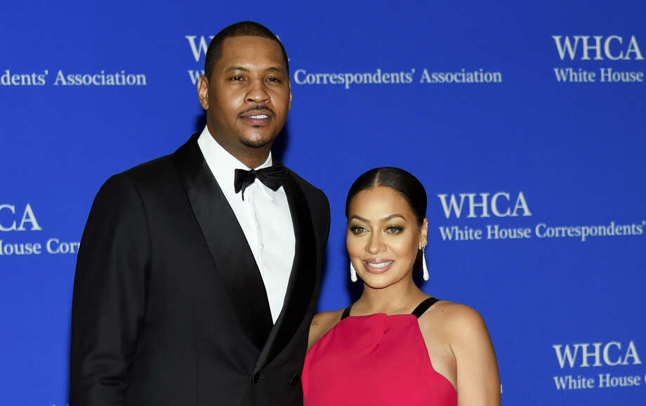 In this April 30, 2016 photo, Carmelo Anthony, left, and La La Anthony arrive at the White House Correspondents' Association Dinner at the Washington Hilton Hotel in Washington. Anthony's concerns go beyond his future with the New York Knicks. The All-Star forward and his wife, actress La La Anthony, are separated, according to a report from TMZ. Photo: Photo By Evan Agostini/Invision — AP, File  / Invision