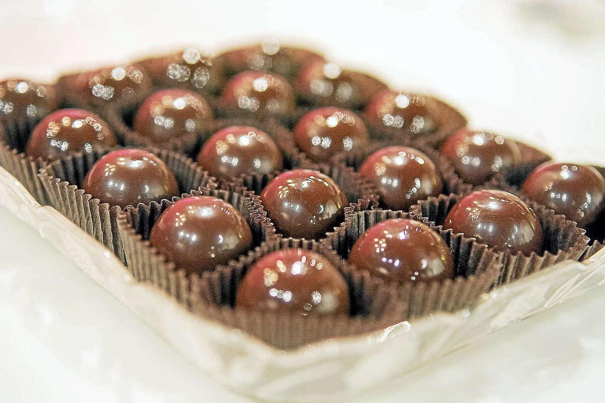 Bourbon balls from Cellar Door Chocolates in Louisville, Kentucky.