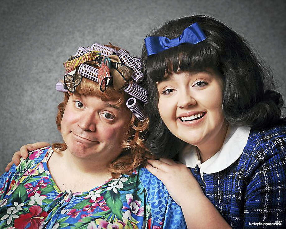 """Kevin Pelkey and CJ Barber are the mother-daughter duo, Edna and Tracy Turnblad, in """"Hairspray"""" opening April 29 at the Thomaston Opera House. The popular musical is directed by Marissa Follo Perry, who held the role of Tracy Turnblad on Broadway. Photo: Photo By Lisa Cherie Photography"""