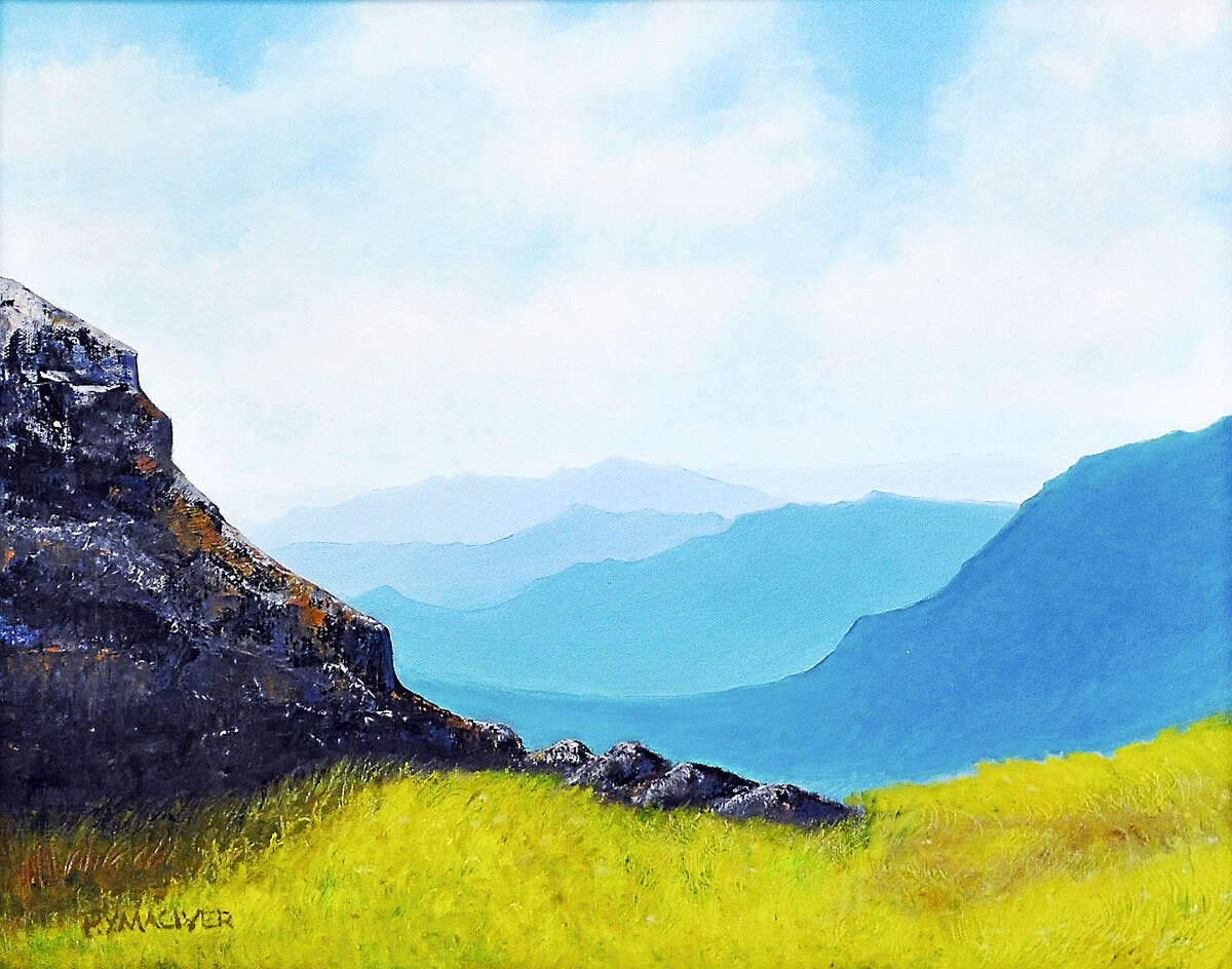 """""""The Mountain & the Ladybug"""", oil, by Patty MacIver,"""