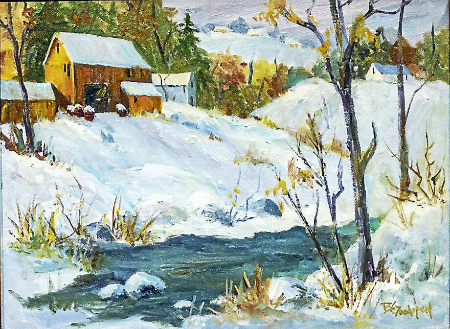 Contributed photoA winter scene painted by Barbara Goodspeed. Photo: Digital First Media