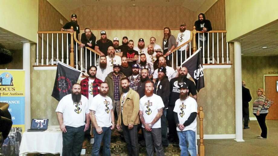 Members of the Bearded Villains' New England Chapter, The Saints, held a fundraiser to benefit the FOCUS Center for Autism's Fresh Start School. Photo: Contributed Photos