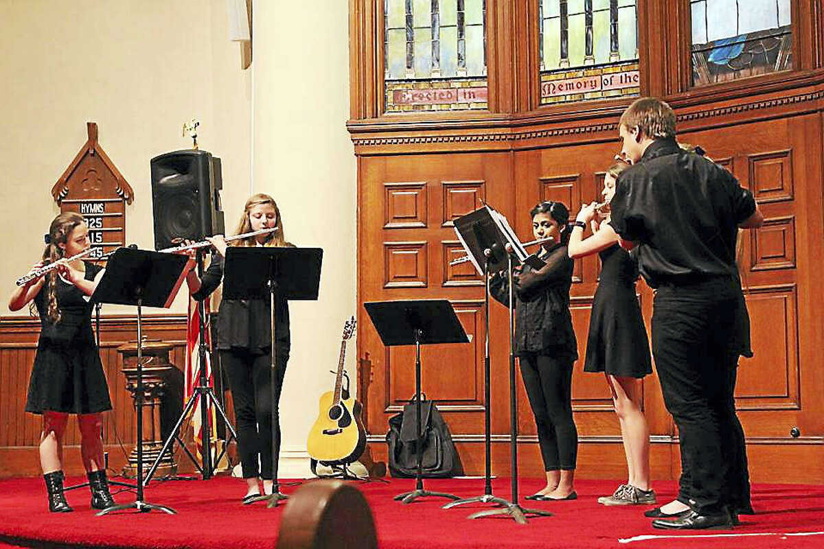 Contributed photoThe Gilbert School's flute choir will join the lineup of performers at the Second Congregational Church of Winsted'd 19th annual Harmony for Hunger concert on Saturday, April 29.