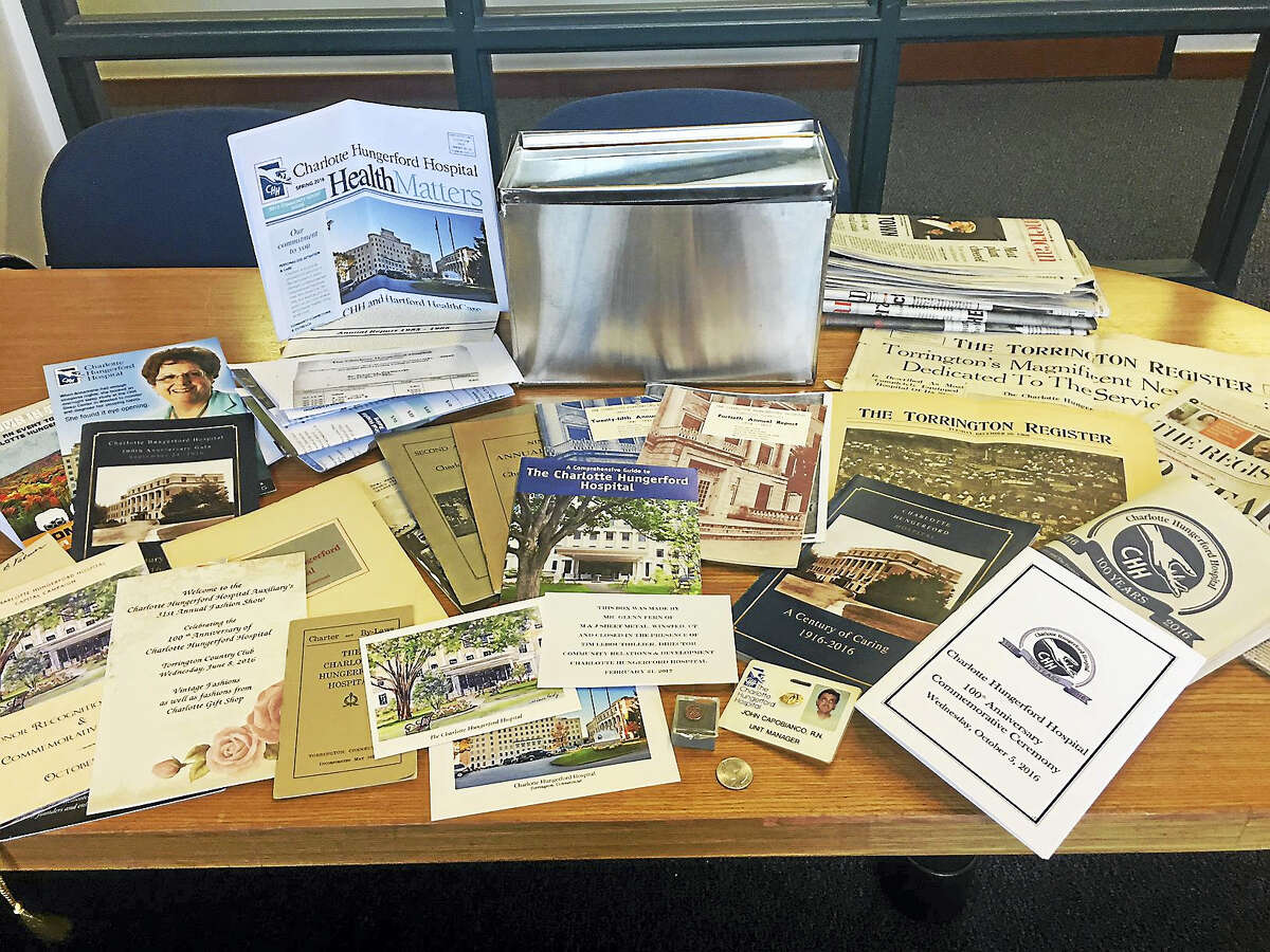 Hospital staff filled a new cornerstone box (a time capsule) with memorabilia in honor of CHH's 100th anniversary, which was celebrated in 2016.