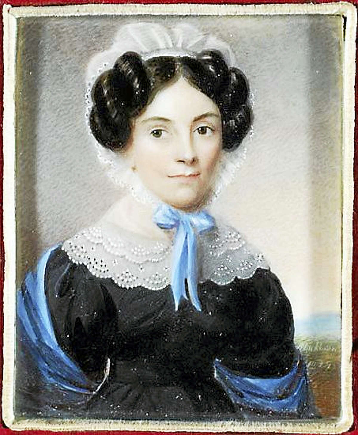 """A miniature portrait, one of many to be included in """"Miniature Marvels,"""" a fundraiser for the Litchfield Historical Society in May."""