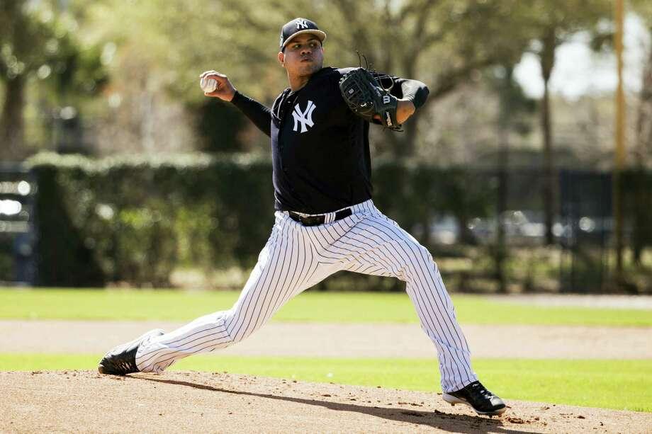 New York Yankees pitcher Dellin Betances. Photo: Matt Rourke — The Associated Press  / Copyright 2017 The Associated Press. All rights reserved.