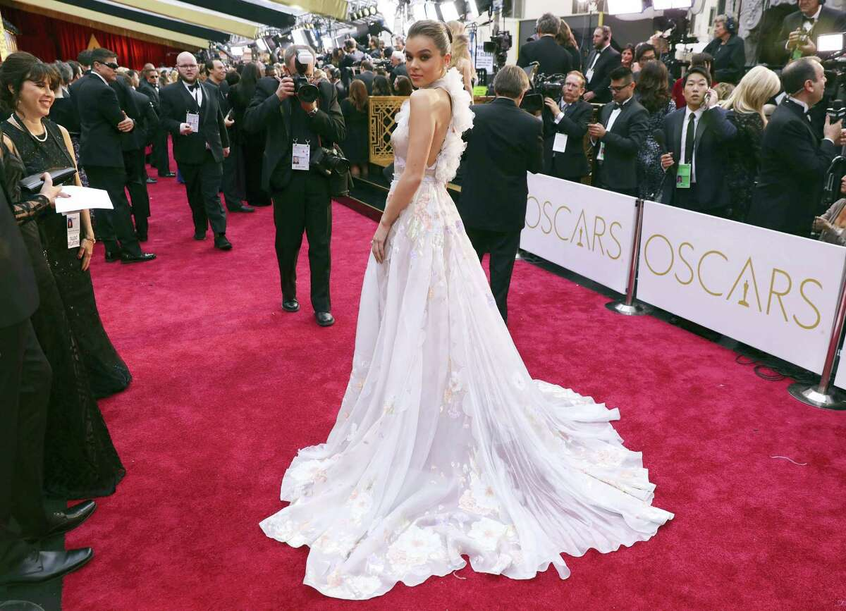 Hailee Steinfeld arrives at the Oscars on Sunday, Feb. 26, 2017, at the Dolby Theatre in Los Angeles. (Photo by Matt Sayles/Invision/AP)