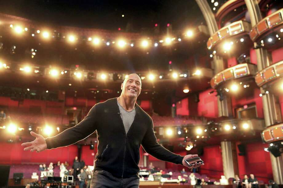 Dwayne Johnson appears during a rehearsal for the 89th Academy Awards on Feb. 25, 2017. The Academy Awards will be held at the Dolby Theatre on Sunday. Photo: Photo By Matt Sayles/Invision/AP  / 2017 Invision